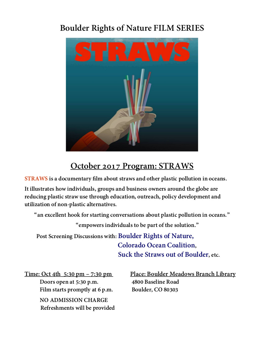 """Film Series """"Straws""""  See """"Upcoming Events"""" on right."""